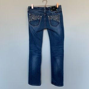 Miss Me embroidered & studded skinny jeans